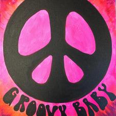 Groovy Baby Peace Sign