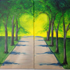Tree Alley Date Night (2 Canvases)
