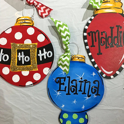 December 4, Drop-In Ornament Painting, 10am-12pm