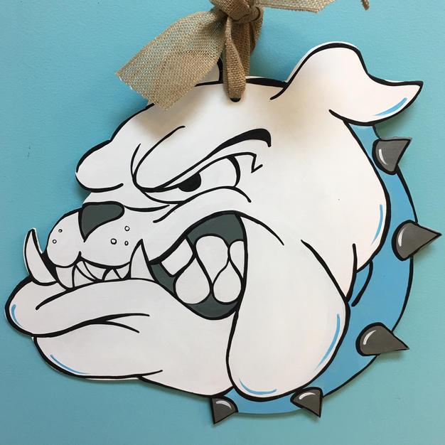 #132 Bulldog Wood Cutout