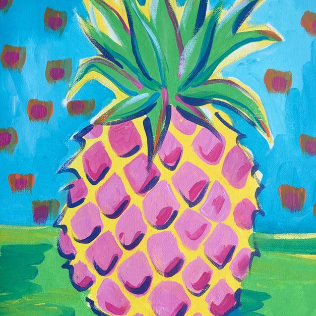 Wild Pineapple Canvas