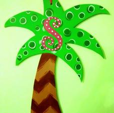 #37 Palm Tree Wood Cutout