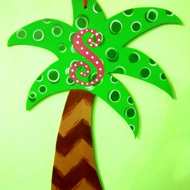 #37 Palm Tree Wood Cutout