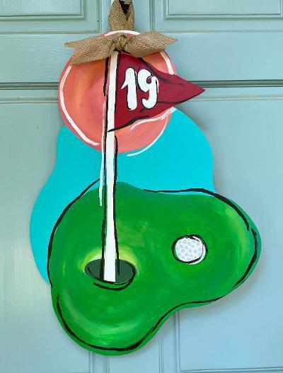 #138 19th Hole Golf Wood Cutout