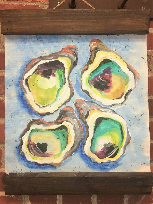 July 10, Saturday, Oyster Canvas Hanger, 6:30