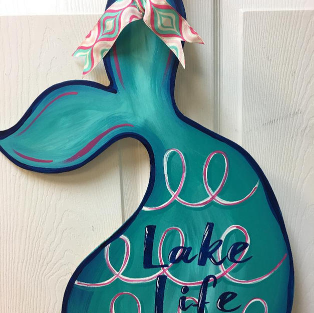 #89 Mermaid Tail Wood Cutout