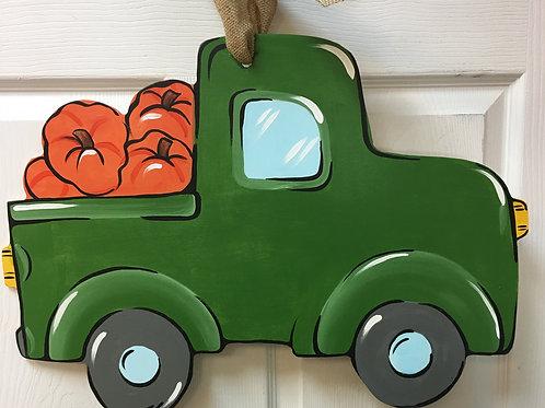 October 28, Wednesday, Truck with Pumpkins, 6:30