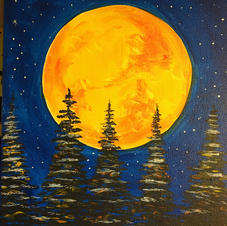 Moonlit Trees (single canvas)