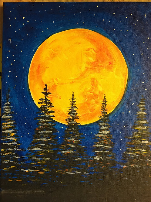 November 12, Friday, Trees in Moonlight Skinny Board, 6:30-8:30pm