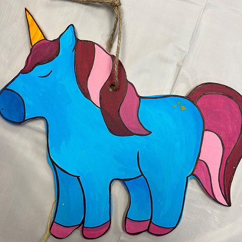 August 1, Saturday, Small Wood Unicorn, 12-1:00