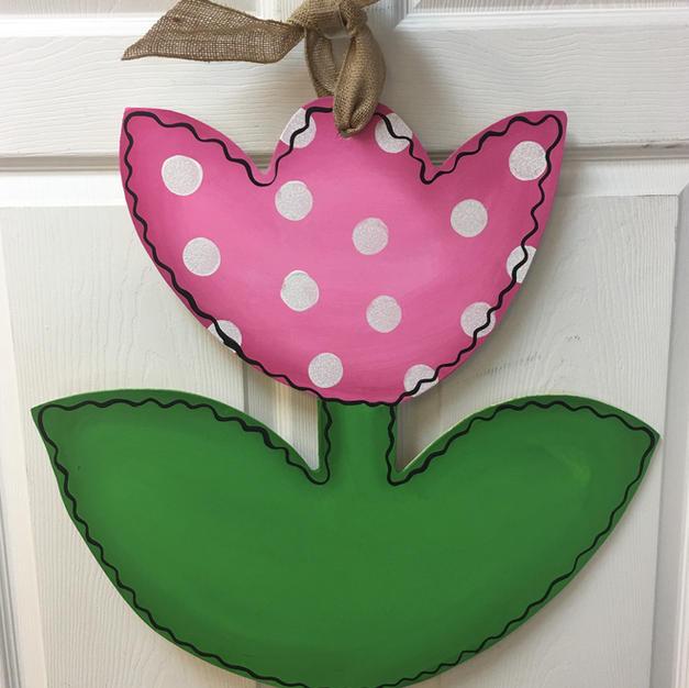#115 Tulip Wood Cutout