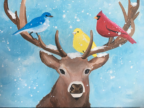 November 16, Monday, Birds On Deer, 6:30