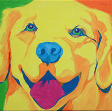 Warhol Dog Canvas