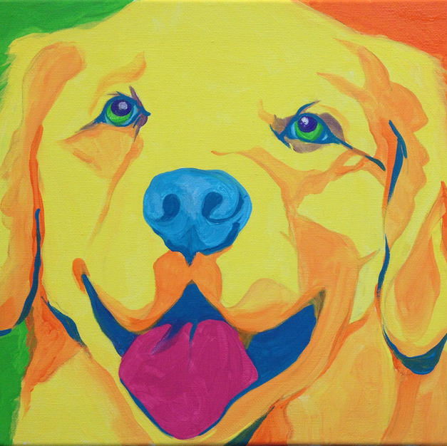 Warhol Dog Canvas