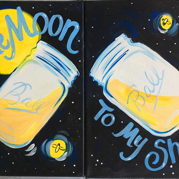 Moonshine Date Night Canvases (2 canvases)