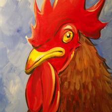 Gamecock Head Canvas