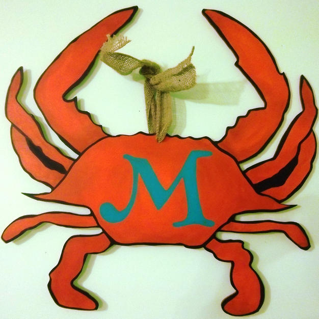 #98 Crab Wood Cutout