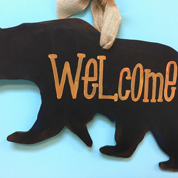 #92 Black Bear Wood Cutout