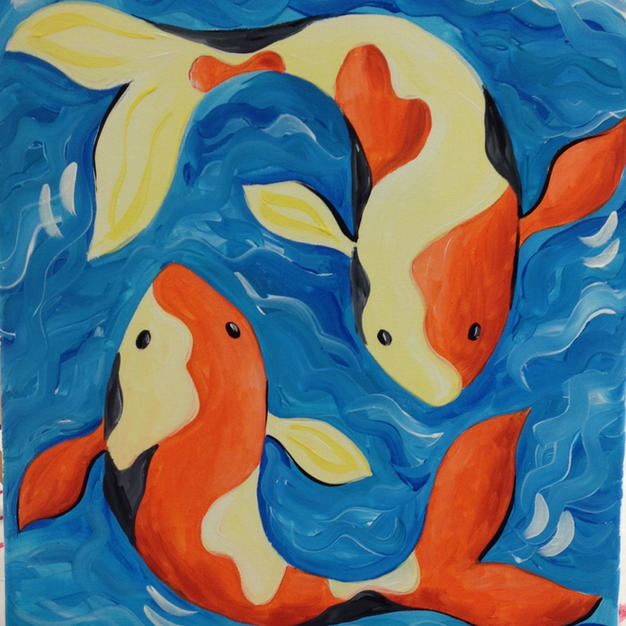 Koi Fish Canvas