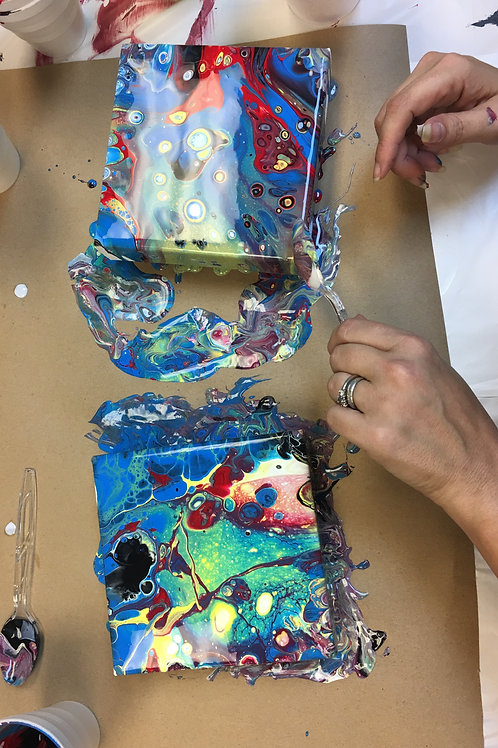January 4, Saturday, Acrylic Paint Pouring, 2:00