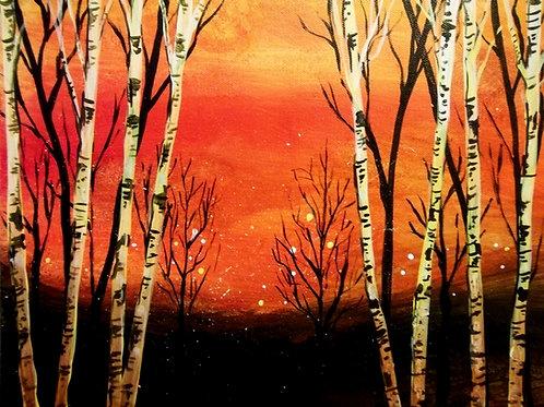 January 7, Wednesday, Birch Trees, 6:30