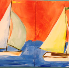Sailboats Date Night (2 Canvases