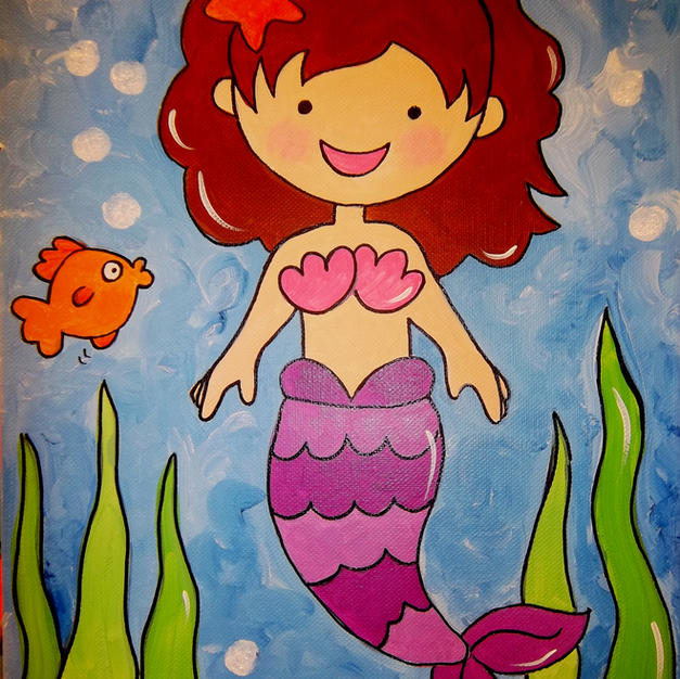 Mermaid (Children's canvas)