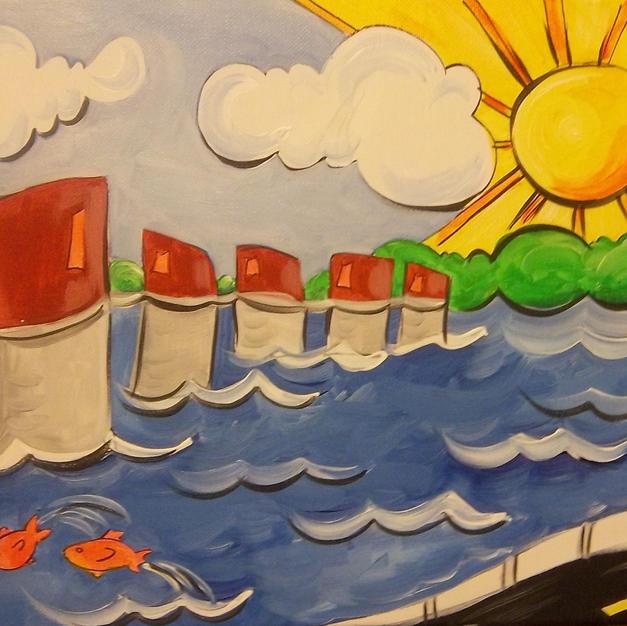 Whimsical Lake Murray Canvas