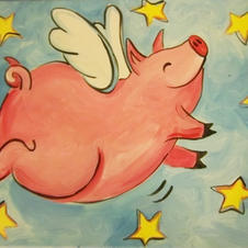 When Pigs Fly Canvas