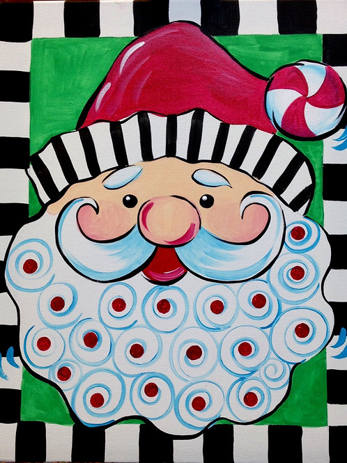 December 6, Friday, Santa Face Canvas, 10:00