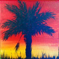 Single Palmetto Sunset