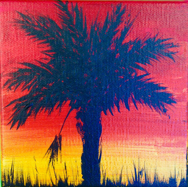 Single Palmetto Sunset