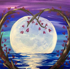 Heart Trees with Ocean