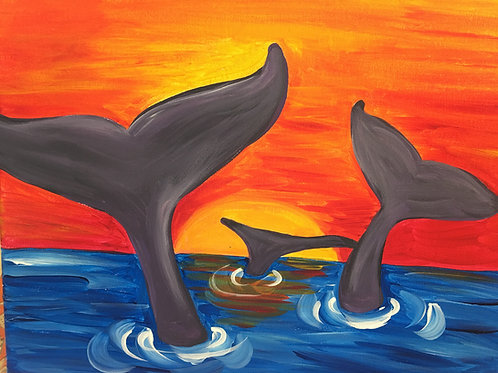 July 8, Wednesday, Whale Tails, 1:00