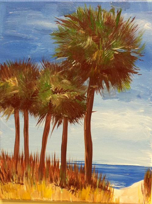 March 6, Friday, Botany Bay palms, 6:30