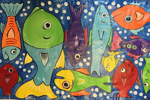 Fish Floor Cloth