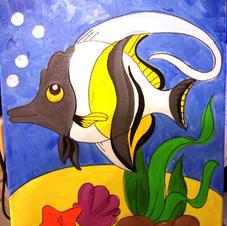 Angel Fish (children's canvas)