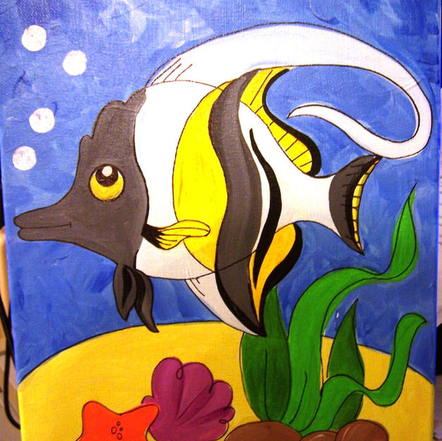Angel Fish (children's canvas)