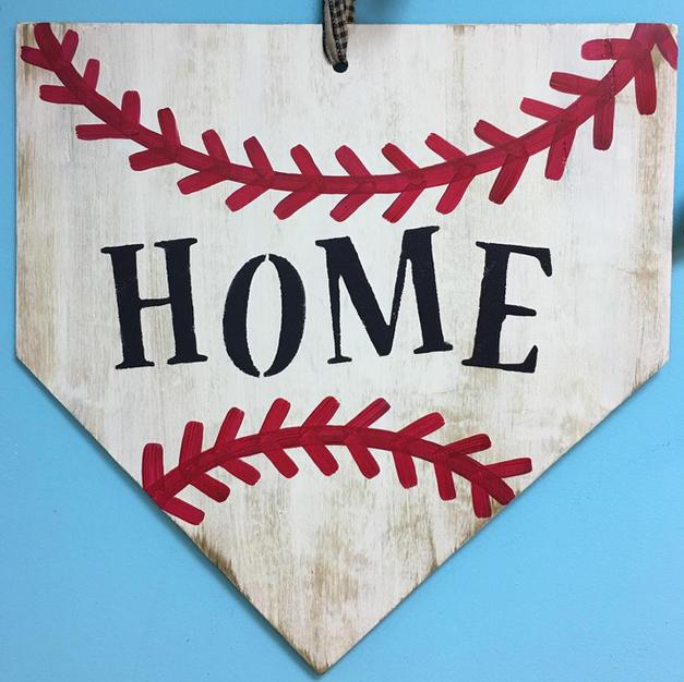 #133 Baseball Diamond Wood Cutout