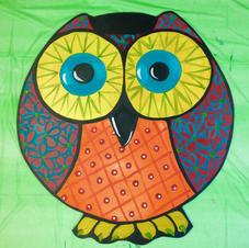 #165, Circle Owl Wood Cutout