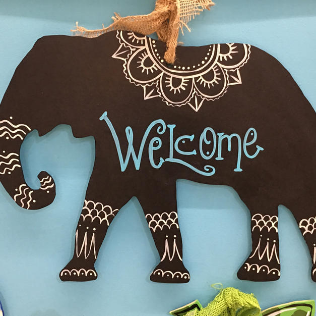#102 Elephant Wood Cutout