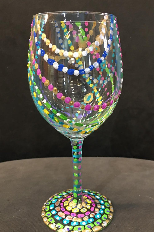 December 1, Sunday, Paint Your Own Wine Glass Drop In, 2:00 - 5:00