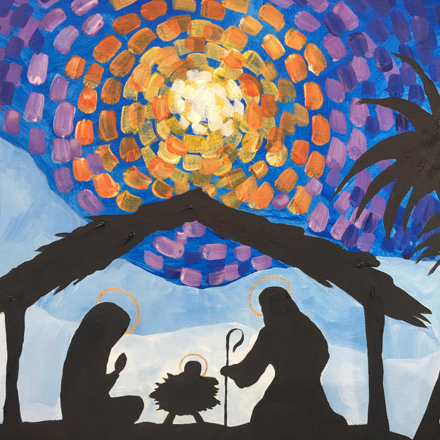 Nativity Silhouette Canvas