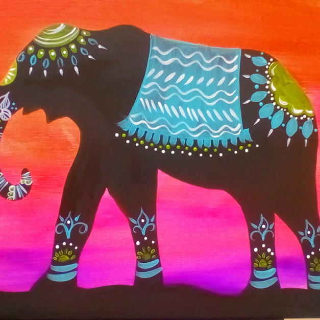 Indian Elephant Canvas