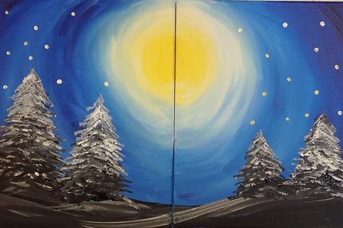 November 13, Friday, Date Night Trees in Moonlight, 6:30