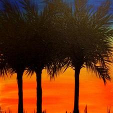 Palmetto Sunset (3 trees)