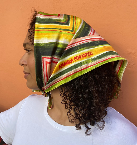 Painted Stripes 100% Silk Scarf