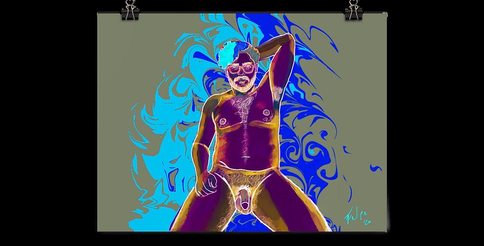 Risqué Blue Poster