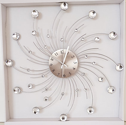 19.5 inch Diamond (Curved Metal Decoration) Wall Clock