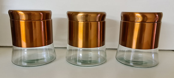 3PCS Bronze Canister Set